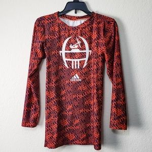 Adidas Long Sleeve Football Compression Shirt